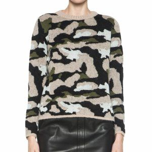 MSGM Wool Mohair Alpaca Blend Camouflage Sweater